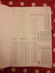 Sketching lines practice