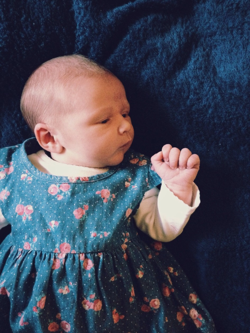 Photo of Ada in blue dress