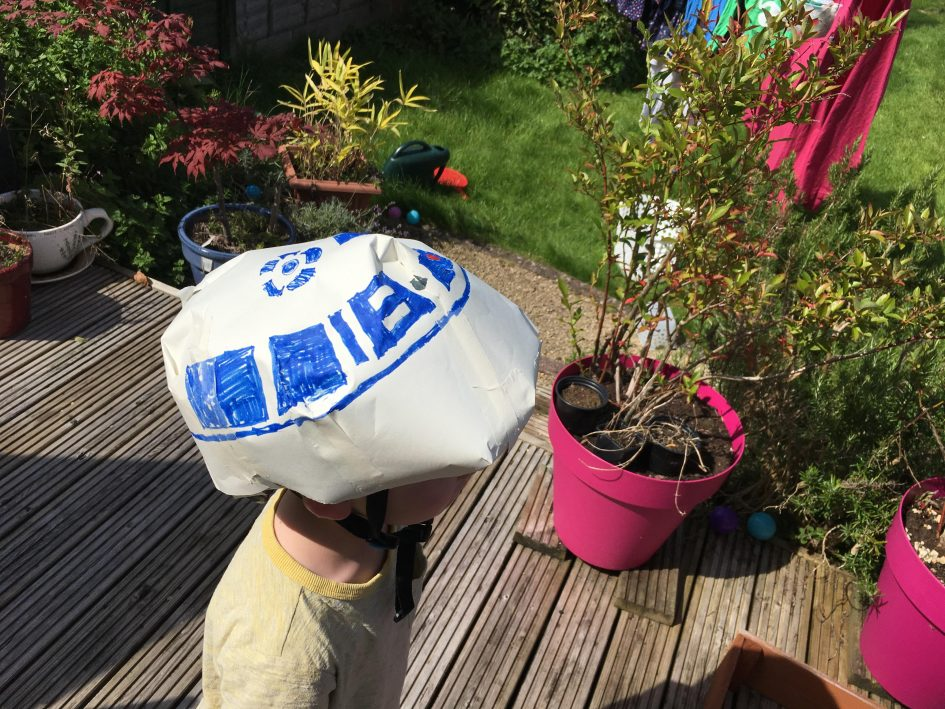 R2D2'd bike helmet