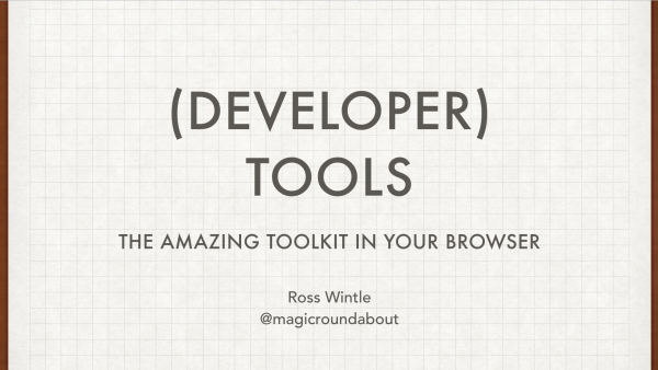 (Developer) Tools Slide