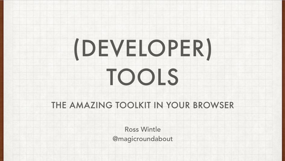 (Developer) Tools Slide