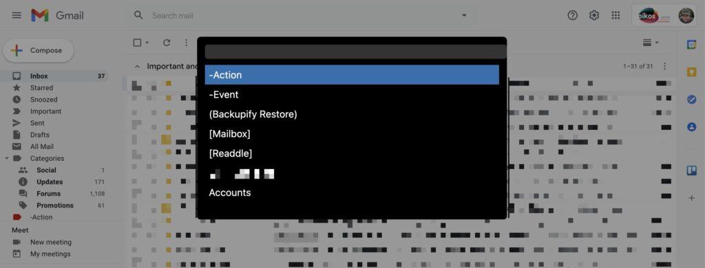 Turbo Admin prototype working on GMail